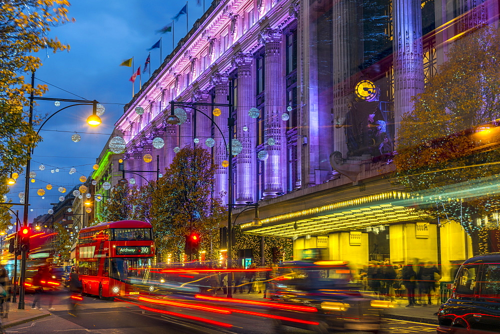 Selfridge's Department Store, Christmas Lights, Oxford Street, The West End, London, England, United Kingdom, Europe - 828-1139