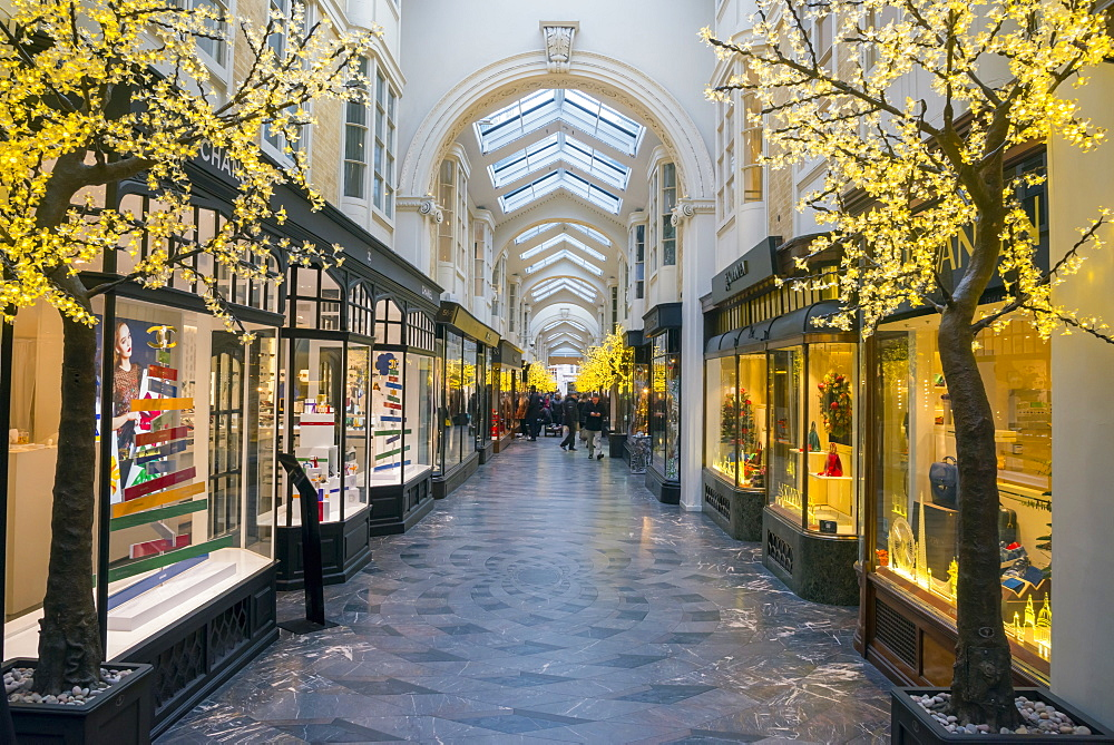 UK, England, London, The West End, Piccadilly, Burlington Arcade at Christmas