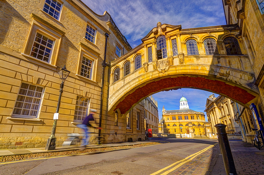 New College Lane, Hertford College, Bridge of Sighs (Hertford Bridge), Oxford, Oxfordshire, England, United Kingdom, Europe - 828-1154