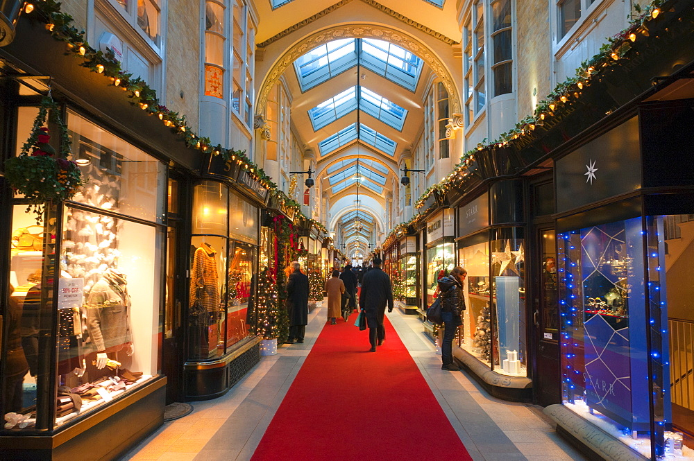 Burlington Arcade at Christmas, Piccadilly, London, England, United Kingdom, Europe