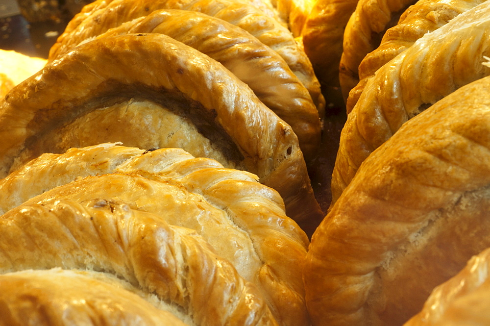 Cornish pasties, Padstow, Cornwall, England, United Kingdom, Europe