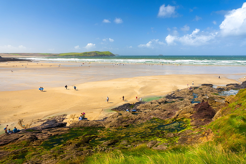 Stock Photo of Polzeath Beach, Cornwall,