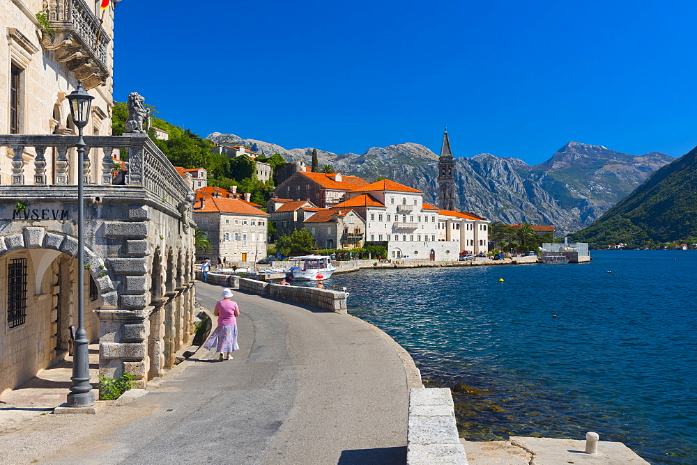Perast, Bay of Kotor, UNESCO World Heritage Site, Montenegro, Europe