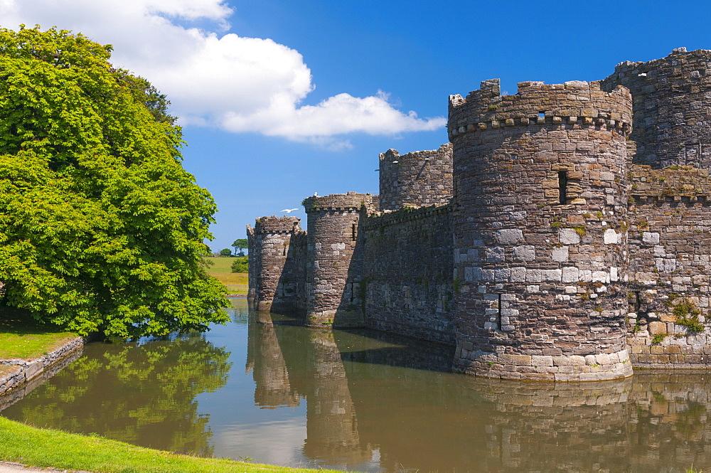 Beaumaris Castle, UNESCO World Heritage Site, Beaumaris, Anglesey, Gwynedd, Wales, United Kingdom, Europe