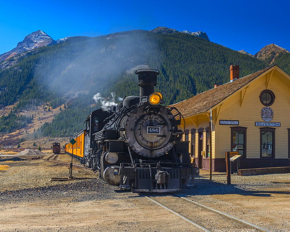 Railway Station for Durango and Silverton Narrow Gauge Railroad, Silverton, Colorado, United States of America, North America