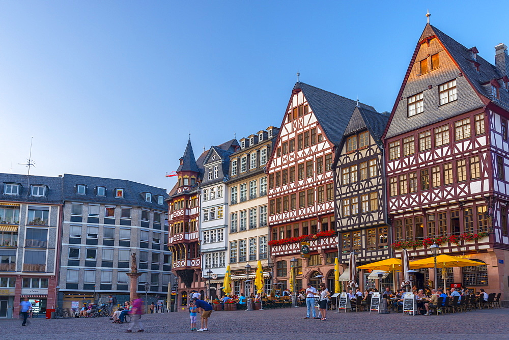 Romerberg, Altstadt (Old Town), Frankfurt am Main, Hesse, Germany, Europe