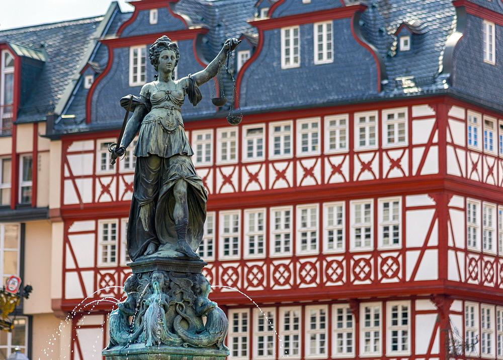 Altstadt (Old Town), Romerberg, Frankfurt am Main, Hesse, Germany, Europe