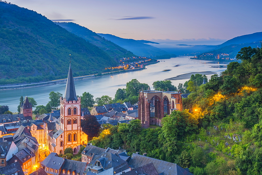 Bacharach on the River Rhine, Rhineland Palatinate, Germany, Europe - 828-883