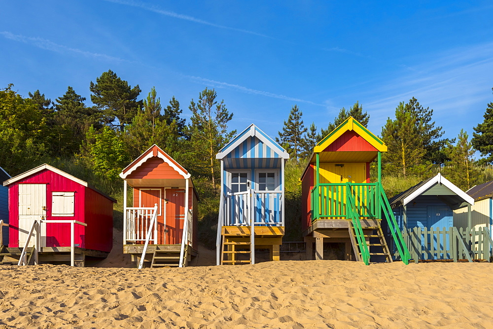 Wells-next-the-Sea Beach, North Norfolk, Norfolk, England, United Kingdom, Europe