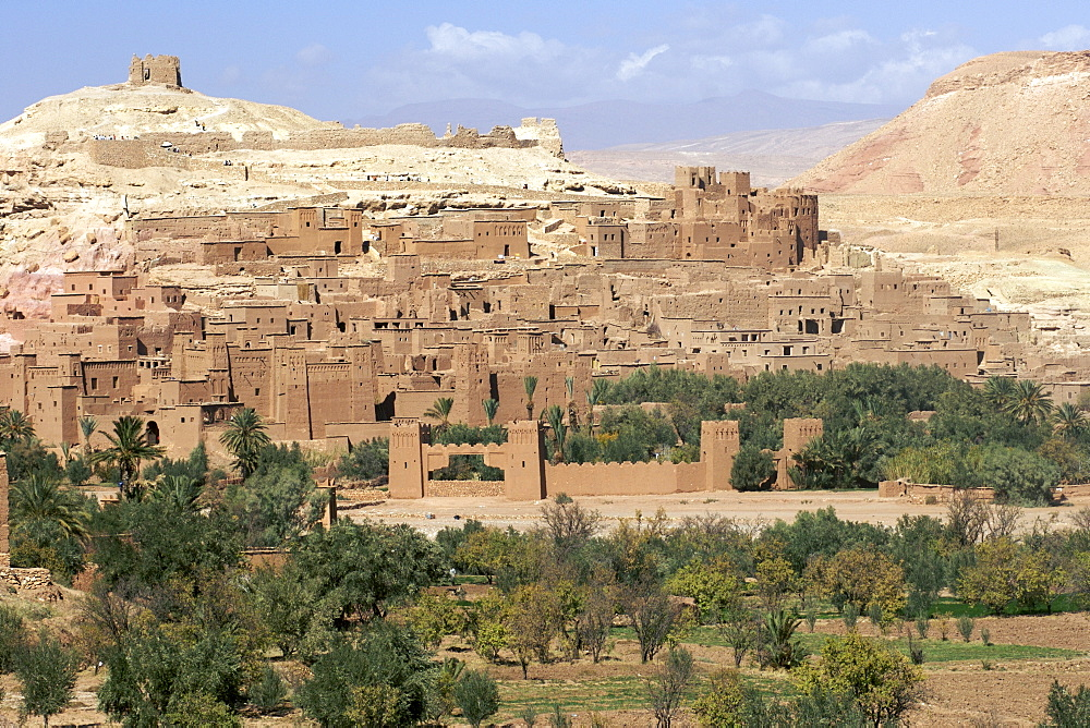View across the Ait Ben Haddou kasbah near Ouarzazate in Morocco