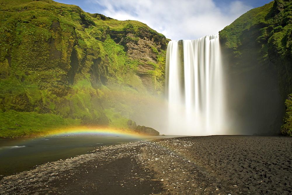 Skogar waterfall in the southwest, Iceland, Polar Regions