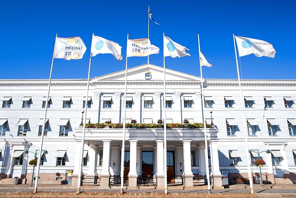 Helsingin Kaupungintalo (Helsinki City Hall) on Pohjoisesplanadi in Helsinki, Finland, Scandinavia, Europe