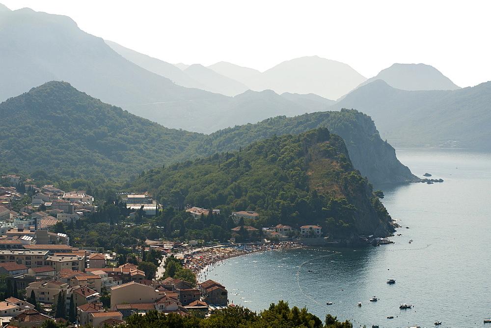 Montenegro's Adriatic coastline near the town of Petrovac, Montenegro, Europe