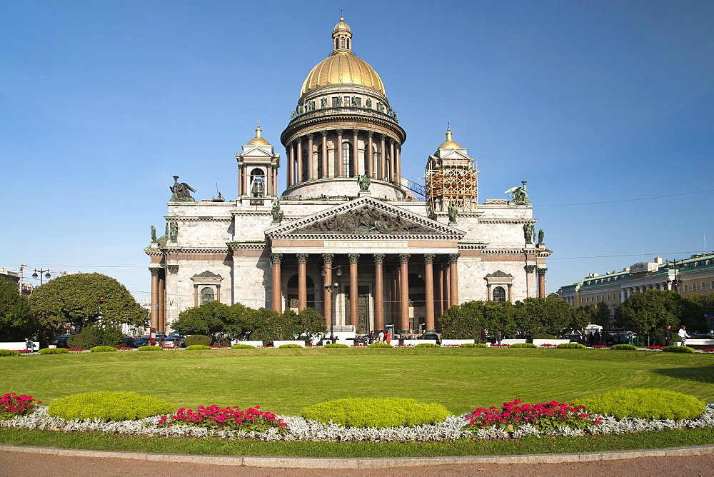 St. Isaac's Cathedral in St. Petersburg, Russia, Europe