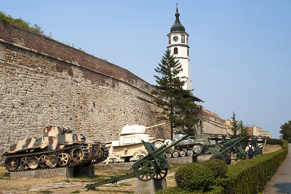 Tanks on display at the Military Museum in Kalemegdan castle in Belgrade, Serbia, Europe
