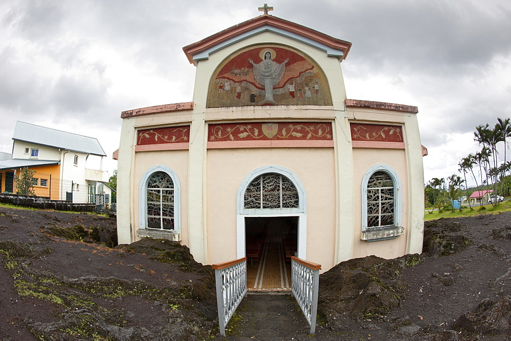 The Notre Dame des Laves church on the French island of Reunion in the Indian Ocean, Africa