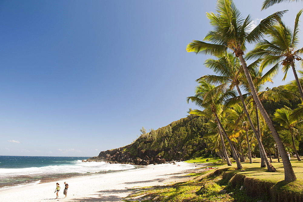 Grande Anse beach on the French island of Reunion in the Indian Ocean, Africa