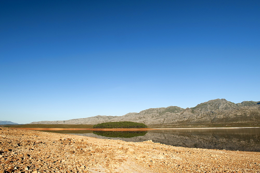 Steenbras Dam in the Western Cape Province of South Africa, Africa