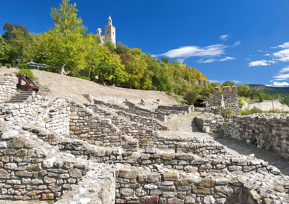 The Tsarevets fortress in Veliko Tarnovo in Bulgaria, Europe