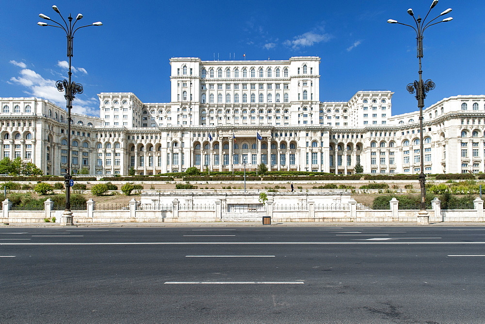 Palace of the Parliament (aka Ceausescu's Palace) in Bucharest, Romania, Europe