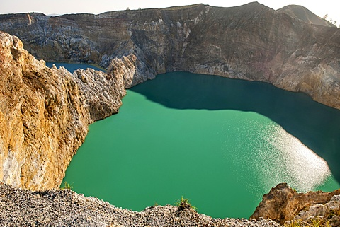 Tiwu Ata Polo (Bewitched or Enchanted Lake) one of three crater lakes on the summit of Mt Kelimutu, Flores island, Indonesia.