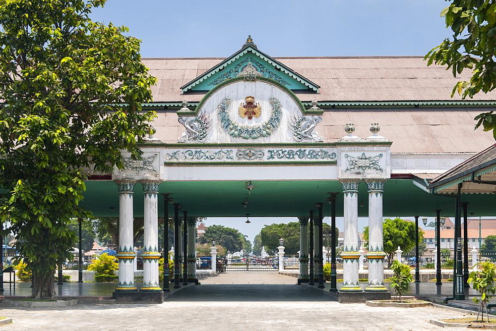 Interior of the Yogyakarta Kraton (Royal Palace) in Java, Indonesia.