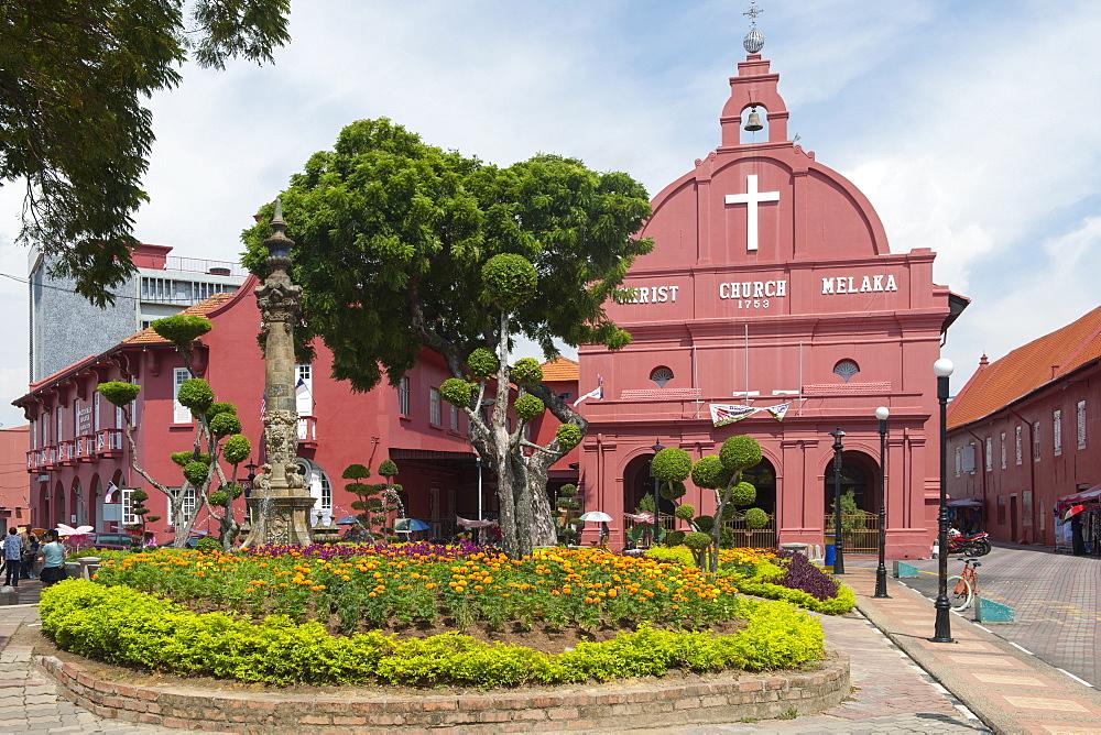 Christ Church in Malacca, Malaysia.