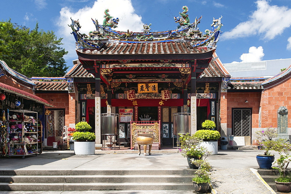 The exterior and entrance of Snake Temple (aka Hock Kin Keong) in Penang, Malaysia.