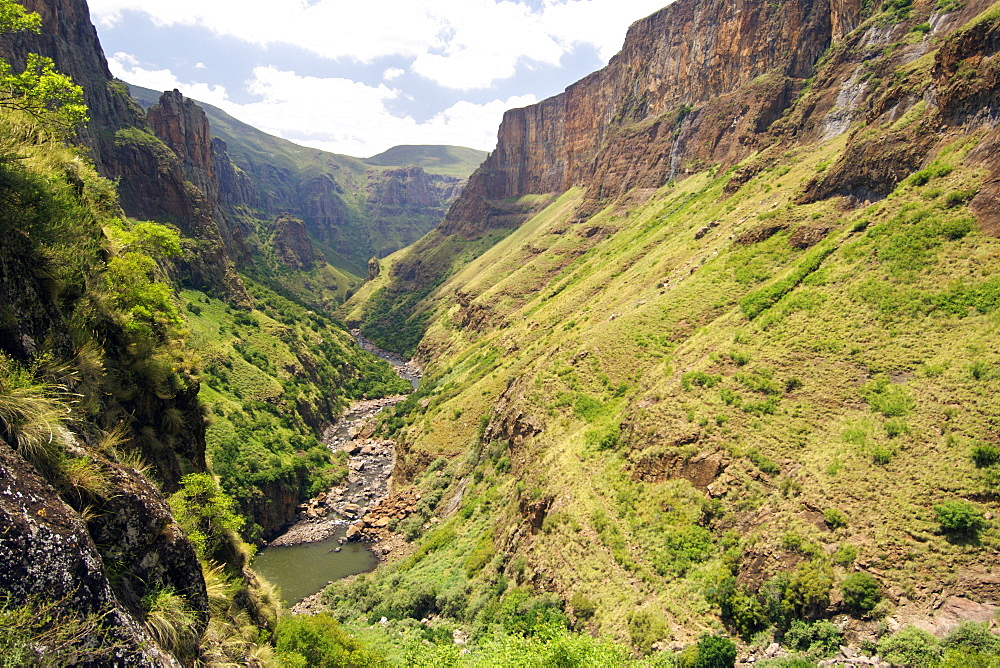 The Maletsunyane River gorge in Lesotho, Africa