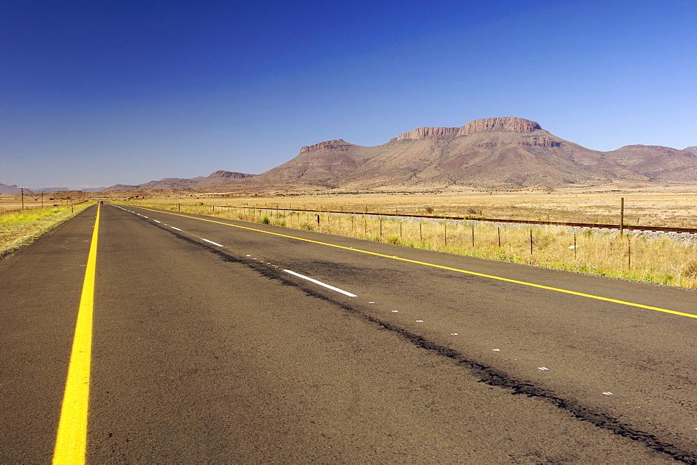 The N9 highway between Graaf Reinet and Middelburg in South Africa's Eastern Cape Province.