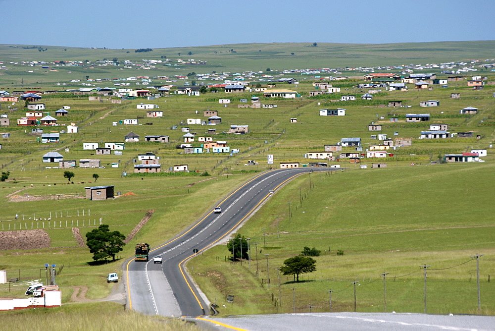 The N2 highway near the town of Idutywa in a region of South Africa's Eastern Cape Province formerly known as the Transkei.