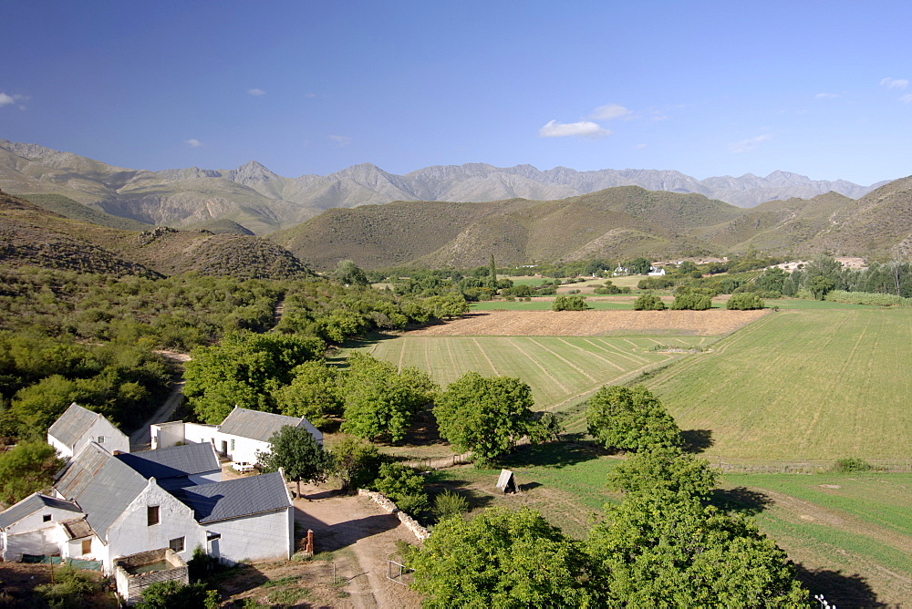 Swartberge landscape near Cango Caves outside Oudtshoorn in the Karoo region of South Africa's Western Cape Province.