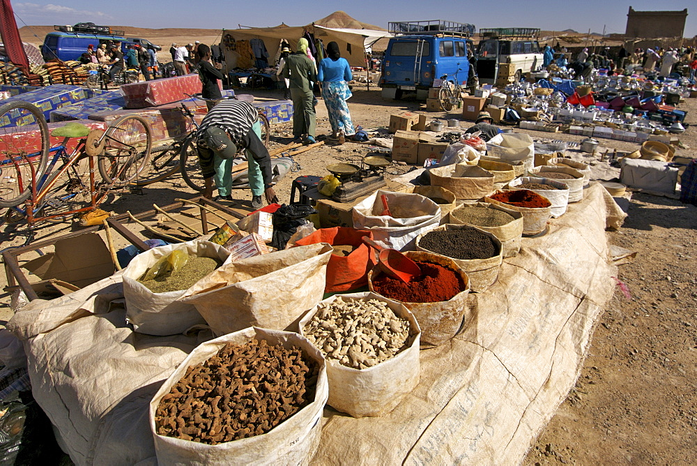 Open air market near Ouarzazate in Morocco