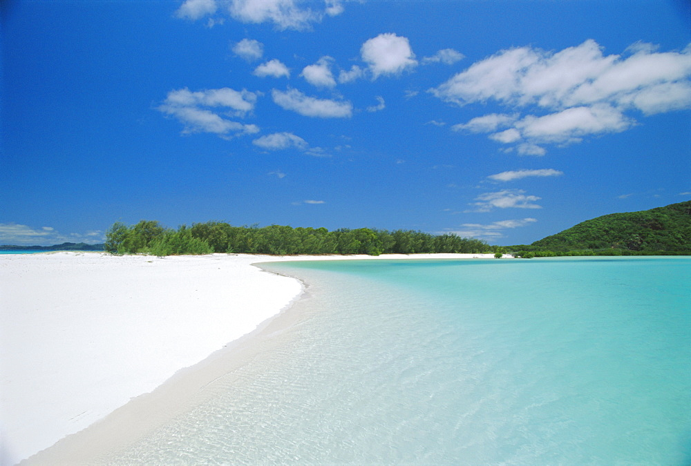 Whitehaven Beach on the east coast, Whitsunday Island, Queensland, Australia