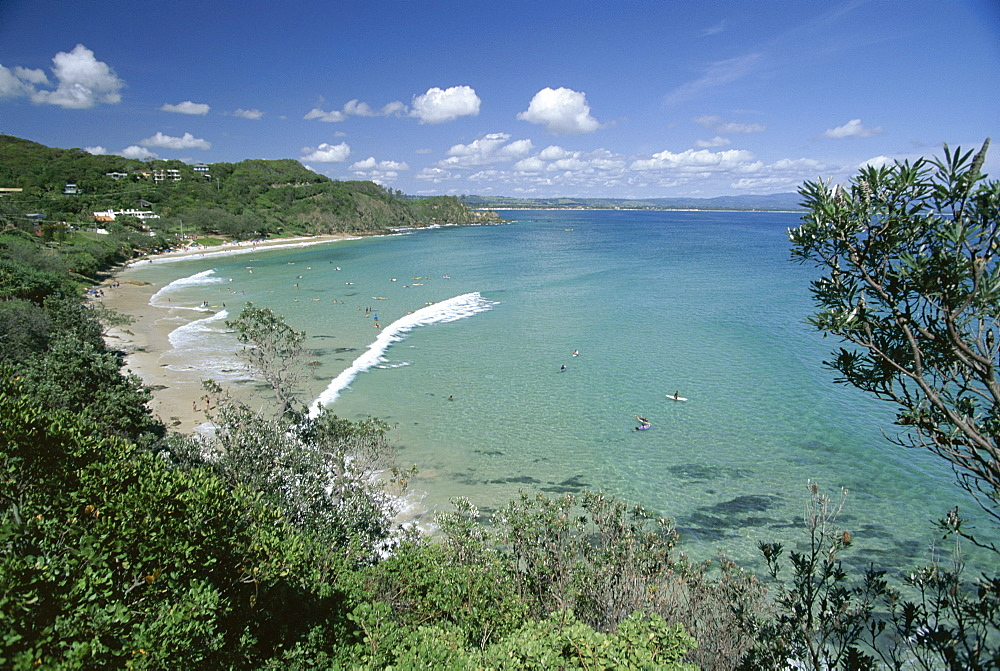 Watego's Beach, a popular surf break between Byron Bay and Cape Byron in the far north of the state, New South Wales (N.S.W.), Australia, Pacific