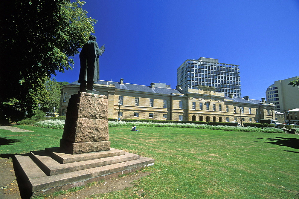 Parliament House, built 1835, and originally a customs house, Parliament Square, Hobart, Tasmania, Australia, Pacific
