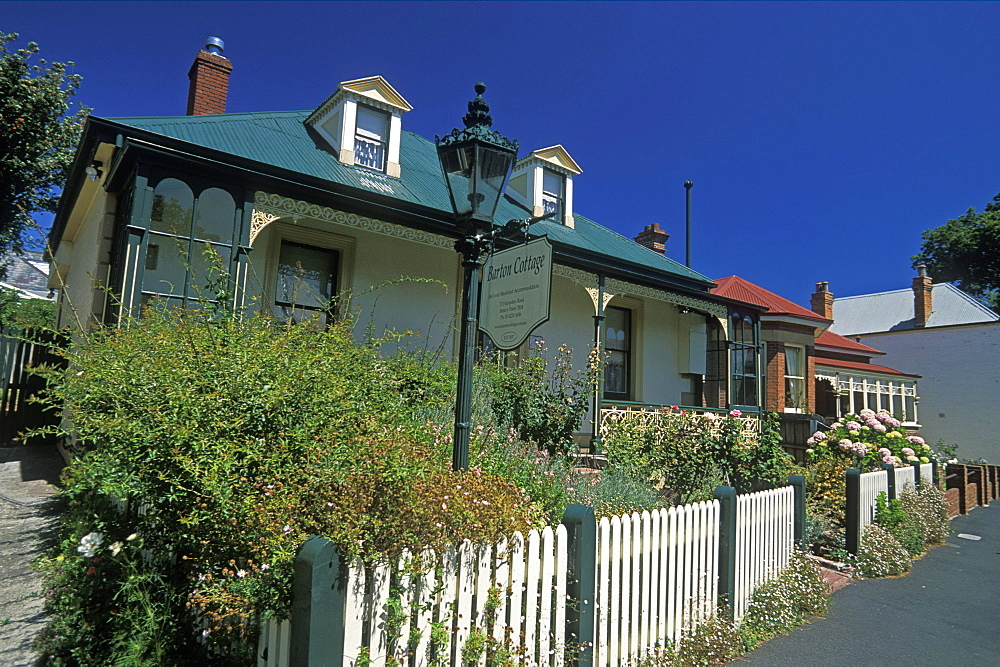 Older properties on Hampden Road in the historic district of Battery Point, Hobart, Tasmania, Australia, Pacific