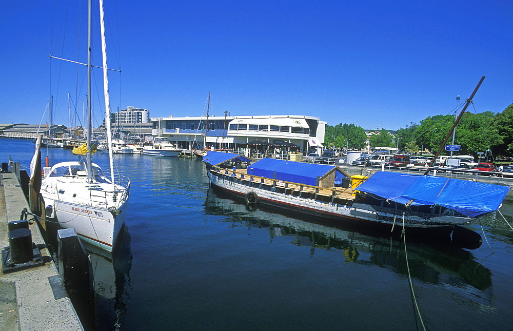 Waterman's Dock on the busy Sullivans Cove waterfront, Hobart, Tasmania, Australia, Pacific