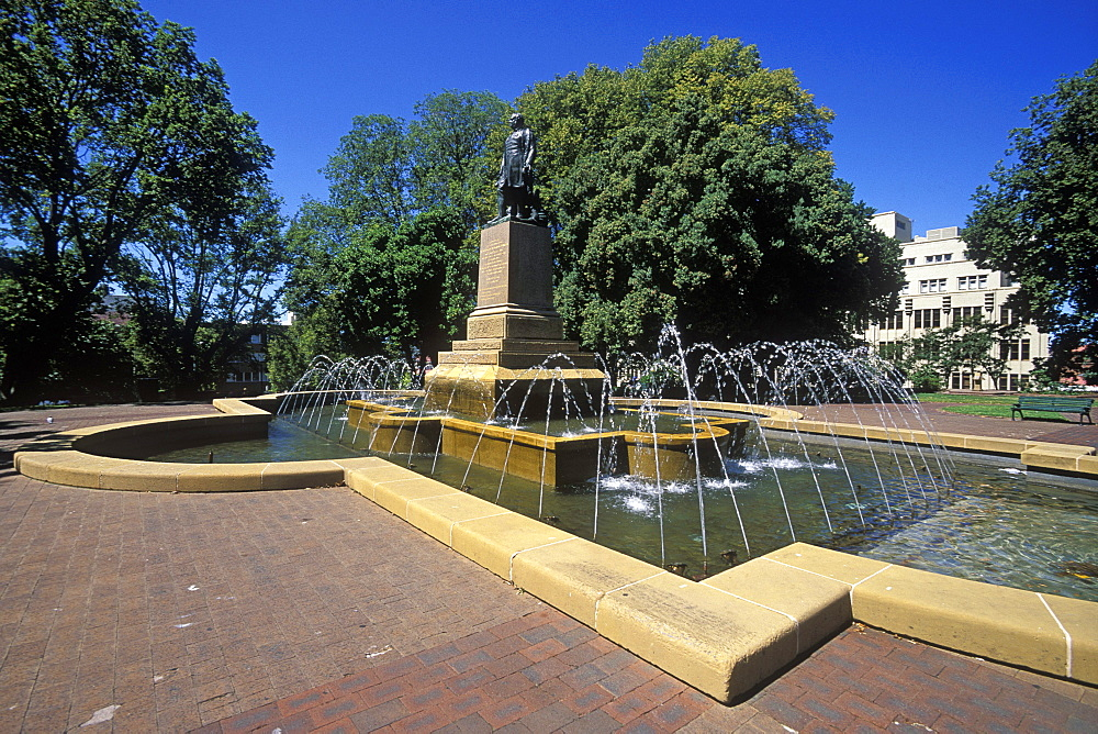 Fountain and statue of Governor Franklin, Franklin Square, Hobart, Tasmania, Australia, Pacific