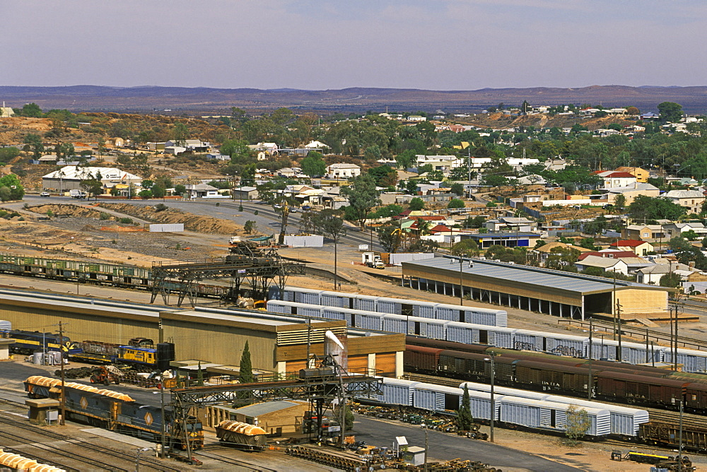 Broken Hill, the famous mining town (the Silver City), declined but still producing silver, lead and zinc, far west of the state, New South Wales, Australia, Pacific