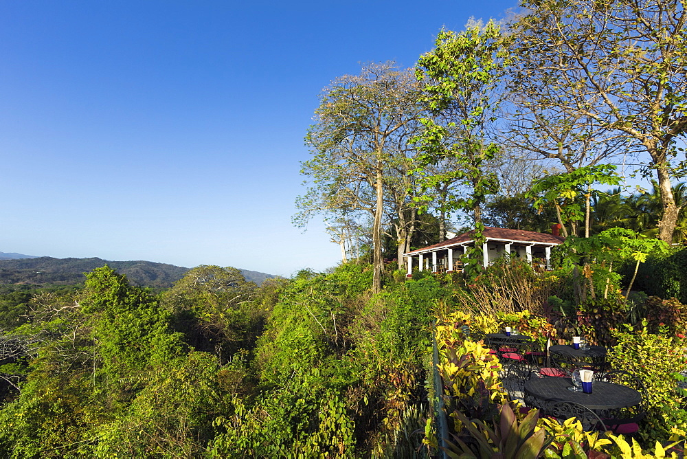 Beautifully situated Lagarto Lodge above the Nosara River mouth, Nosara, Nicoya Peninsula, Guanacaste Province, Costa Rica, Central America