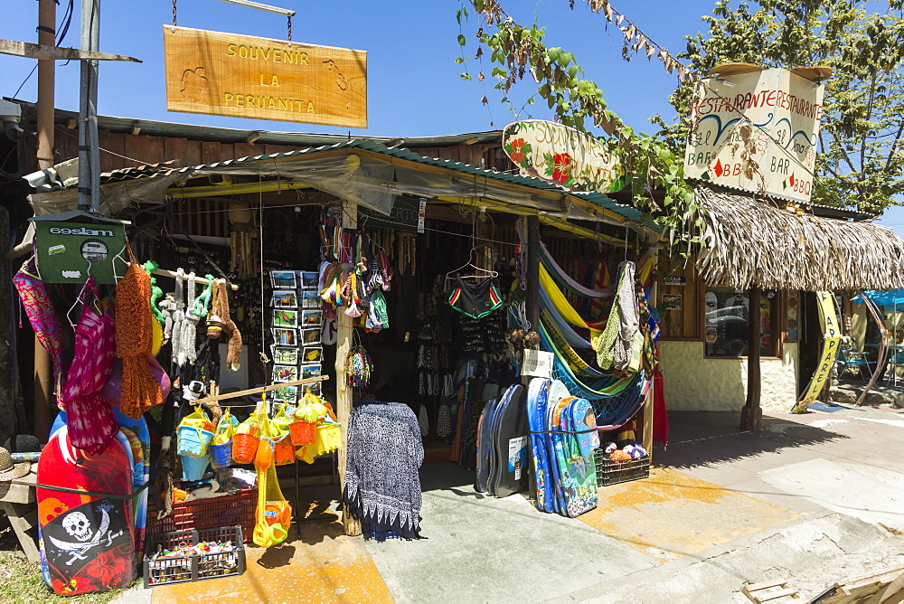 Tourist goods shop in the centre of this laid-back village & resort, Samara, Guanacaste Province, Nicoya Peninsula, Costa Rica, Central America