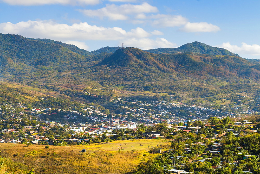 View of the northern city Matagalpa, second only in commercial importance to the capital, Matagalpa, Nicaragua, Central America