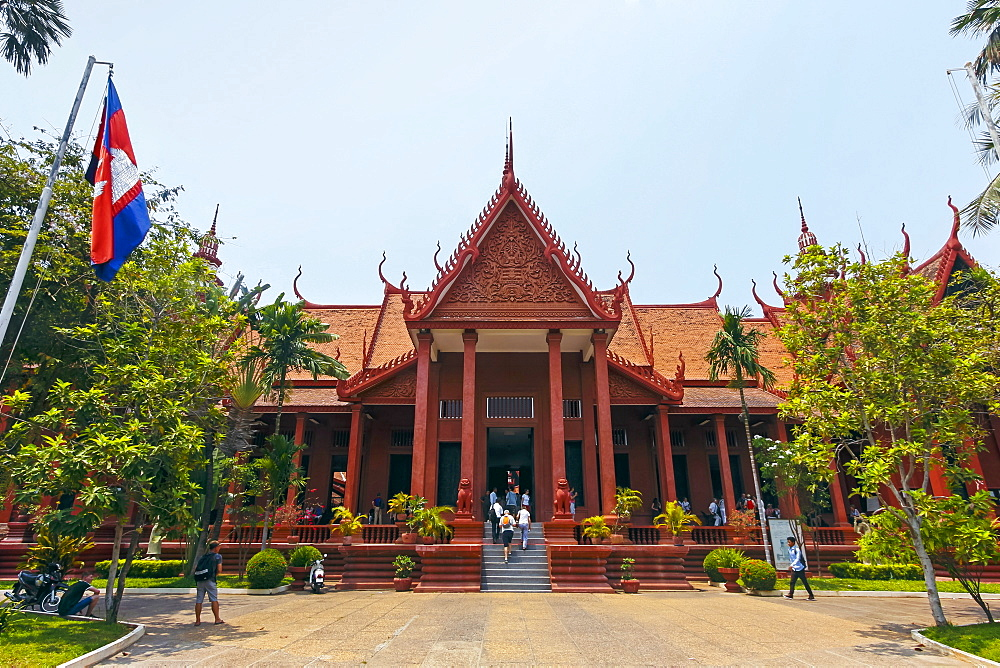 The 1920s National Museum of Cambodia, a large collection of historic Khmer artefacts. Preah Ang Eng St, Phnom Penh, Cambodia.