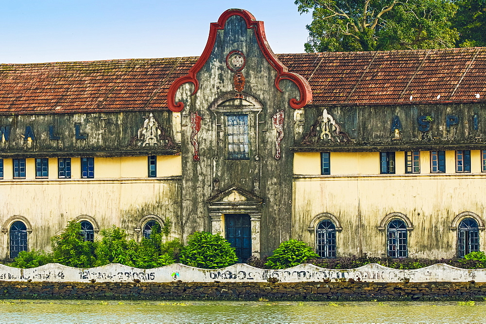 Mercantile waterfront building of John Aspinwall, the 19th century businessman, now an art gallery, Fort Cochin, Kochi, Kerala, India, Asia