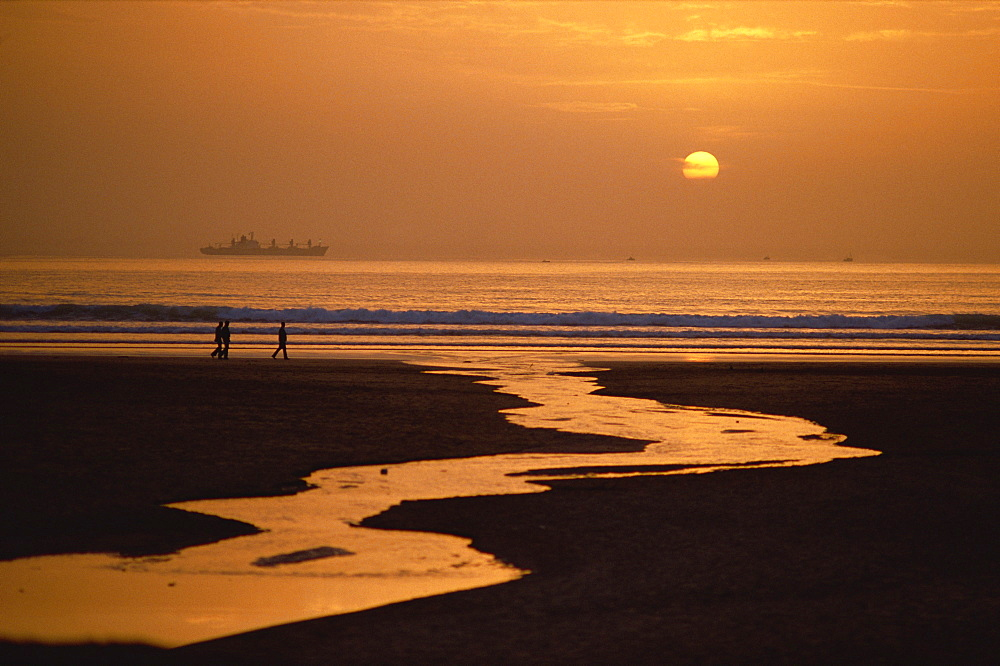 Sunset, Agadir Beach, Agadir, Morocco, North Africa, Africa
