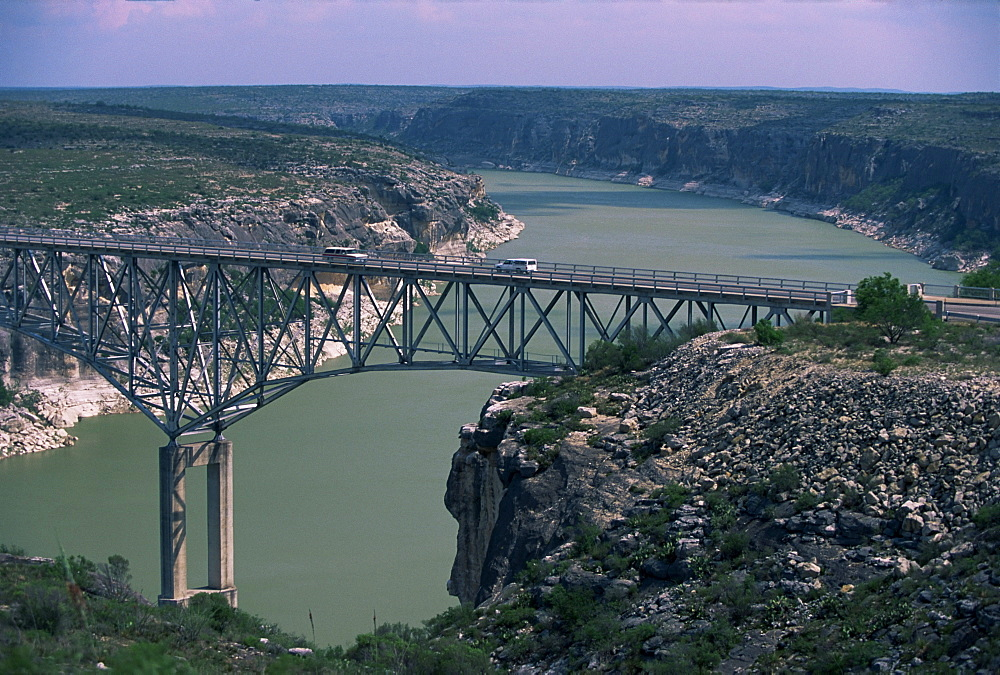Highway 40 Bridge over Pecos River, east of Langtry, west Texas, United States of America, North America