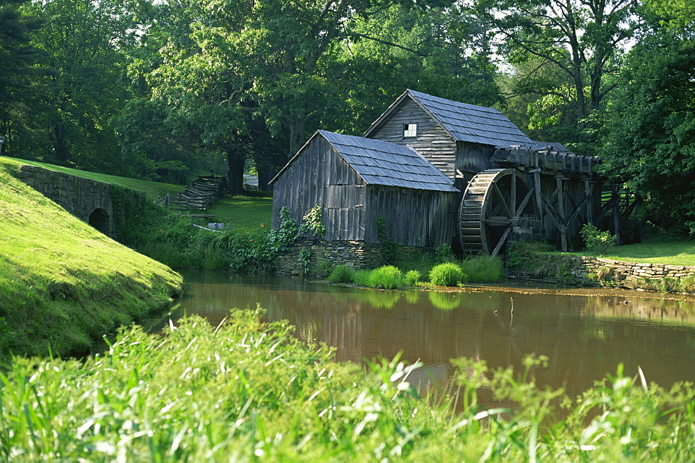 Mabry Mill, restored and working, Blue Ridge Parkway, south Appalachian Mountains, Virginia, United States of America, North America