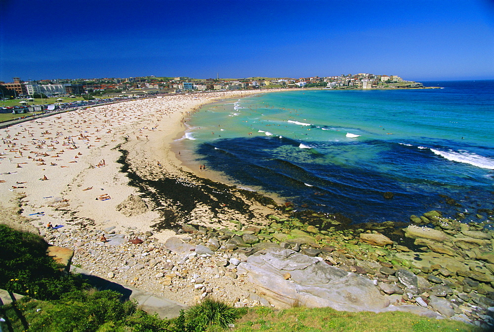 Bondi Beach, one of the city's southern ocean suburbs, Sydney, New South Wales, Australia