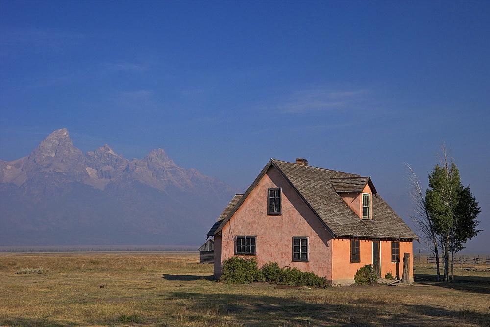 John and Bartha Moulton Homestead, Mormon Row Historic District, Grand Teton National Park, Wyoming, United States of America, North America